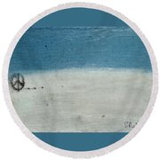 Let There Be Peace Round Beach Towel