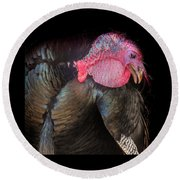 Round Beach Towel featuring the photograph Let Us Give Thanks by Karen Wiles