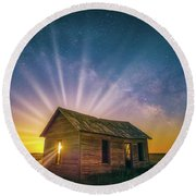 Round Beach Towel featuring the photograph Let Your Light Shine by Darren White