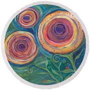 Be The Light Round Beach Towel by Tanielle Childers