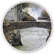 Letchworth Lower Falls Round Beach Towel