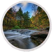 Letchworth's Wolf Creek  Round Beach Towel