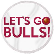 Let's Go Bulls Round Beach Towel
