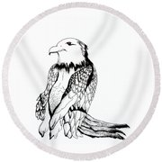 Let's Prey Eagle Round Beach Towel