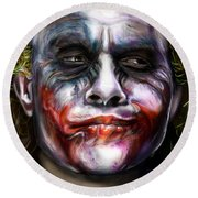 Let's Put A Smile On That Face Round Beach Towel by Vinny John Usuriello