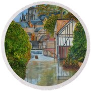 L'eure A Louviers -  France Round Beach Towel