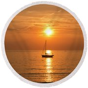 Levanto Italian Sunset Round Beach Towel