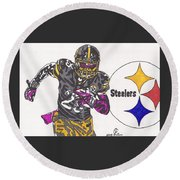 Le'veon Bell 2 Round Beach Towel by Jeremiah Colley