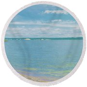 Lewis And Clark Lake Round Beach Towel