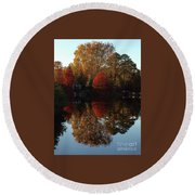 Lewis Ginter Fall Foliage Round Beach Towel