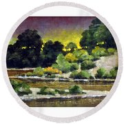 Lewis River At Woodland Round Beach Towel