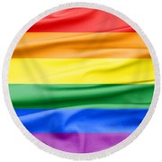 Lgbt Rainbow Flag Round Beach Towel