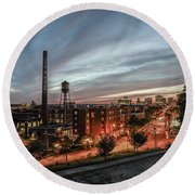 Libby Hill Post Sunset Round Beach Towel