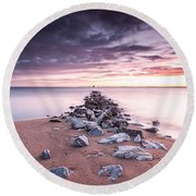 Round Beach Towel featuring the photograph Liberate Inanimate Objects by Edward Kreis