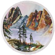 Liberty Bell Mountain Round Beach Towel