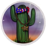 Liberty Cactus Round Beach Towel