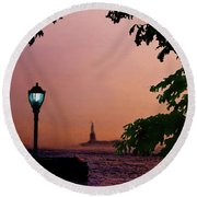 Liberty Fading Seascape Round Beach Towel