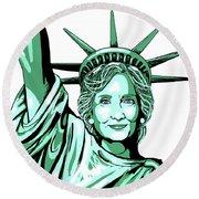Liberty Hillary Round Beach Towel by Konni Jensen