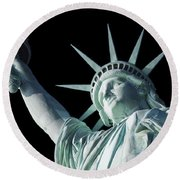 Liberty II Round Beach Towel by  Newwwman
