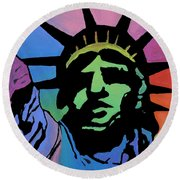 Liberty Of Colors Round Beach Towel by Jeremy Aiyadurai