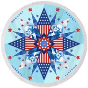 Liberty Quilt Round Beach Towel