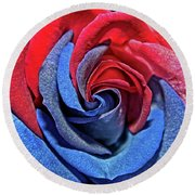 Round Beach Towel featuring the photograph Liberty Rose by Judy Vincent