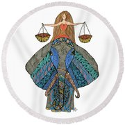 Libra Round Beach Towel