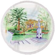 Library A Carnegie Original Round Beach Towel