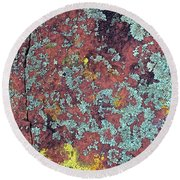 Lichen Colors Round Beach Towel