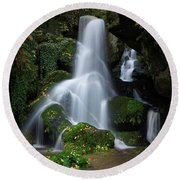 Lichtenhain Waterfall Round Beach Towel