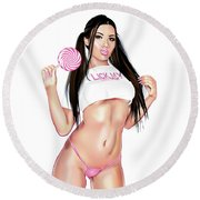 Lick My Lollipop... Round Beach Towel