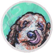 Lickety Doodle Round Beach Towel