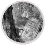 Life After Death Round Beach Towel