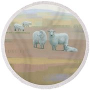 Life Between Seams Round Beach Towel