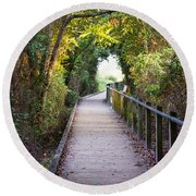 Life Beyond The Path Round Beach Towel