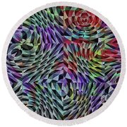 Life Currents Round Beach Towel