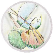 Life In A Bottle Round Beach Towel