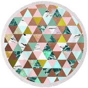 Life In A Pattern Round Beach Towel