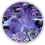 Life In The Ultra Violet Bush Of Ghosts  Round Beach Towel