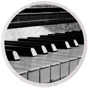 Life Is Like A Piano Round Beach Towel