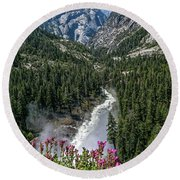 Life Line Of The Valley Round Beach Towel