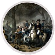 Life Of George Washington - The Soldier Round Beach Towel by War Is Hell Store