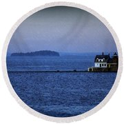 Life Of Solitude Round Beach Towel