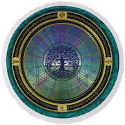 Life Round Beach Towel