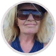 Life Vision August 2016 Round Beach Towel