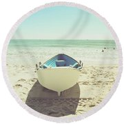 Lifeboat Round Beach Towel by Colleen Kammerer