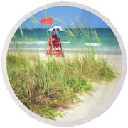 Lifeguard Georgia Round Beach Towel