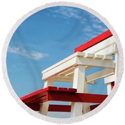 Lifeguard Station Round Beach Towel by Marion McCristall