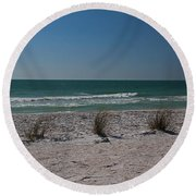 Round Beach Towel featuring the photograph Life's A Beach by Michiale Schneider