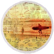 Round Beach Towel featuring the photograph Life's Crossing by Charles Ables